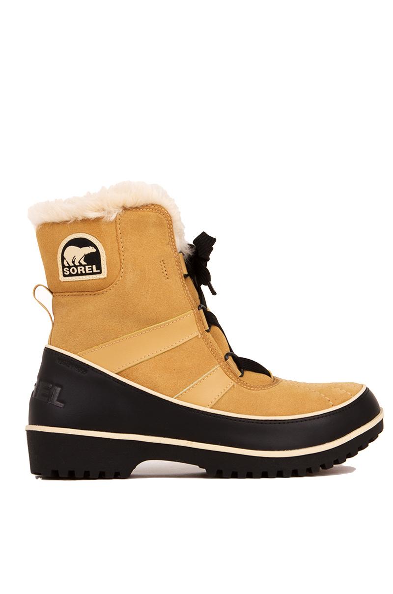 sorel tivoli ii waterproof suede boots brown in yellow