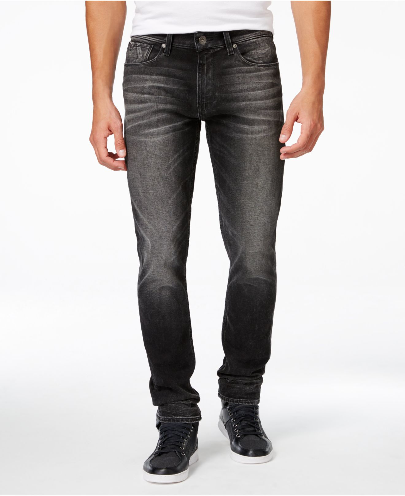Gray Skinny Jeans Mens