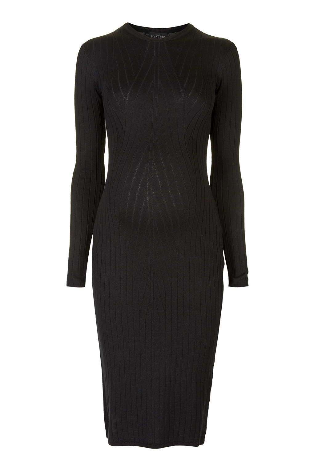 Topshop maternity long sleeve bodycon dress in black lyst gallery ombrellifo Gallery