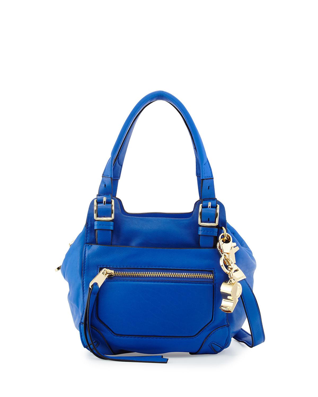 Lyst - Cynthia Rowley Juno Medium Leather Satchel Bag in Blue 40e5100e720f7