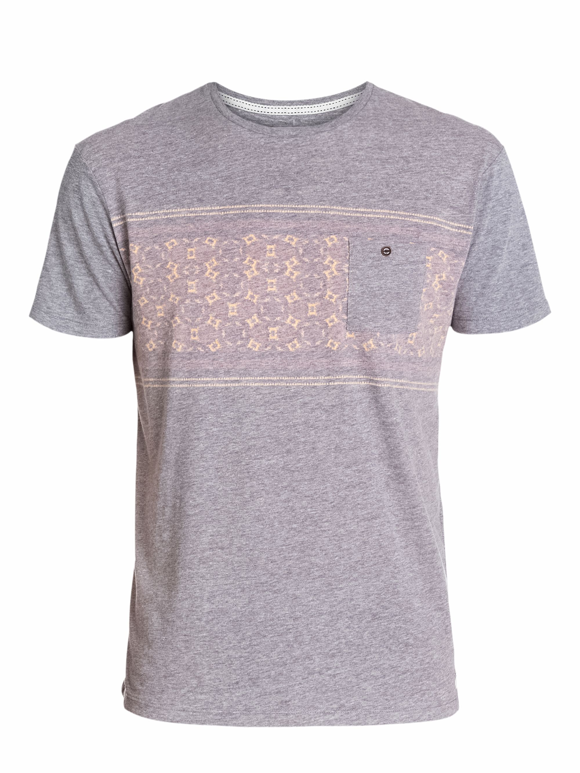 Quiksilver Pattern Crew Neck Slim Fit T Shirt In Gray For