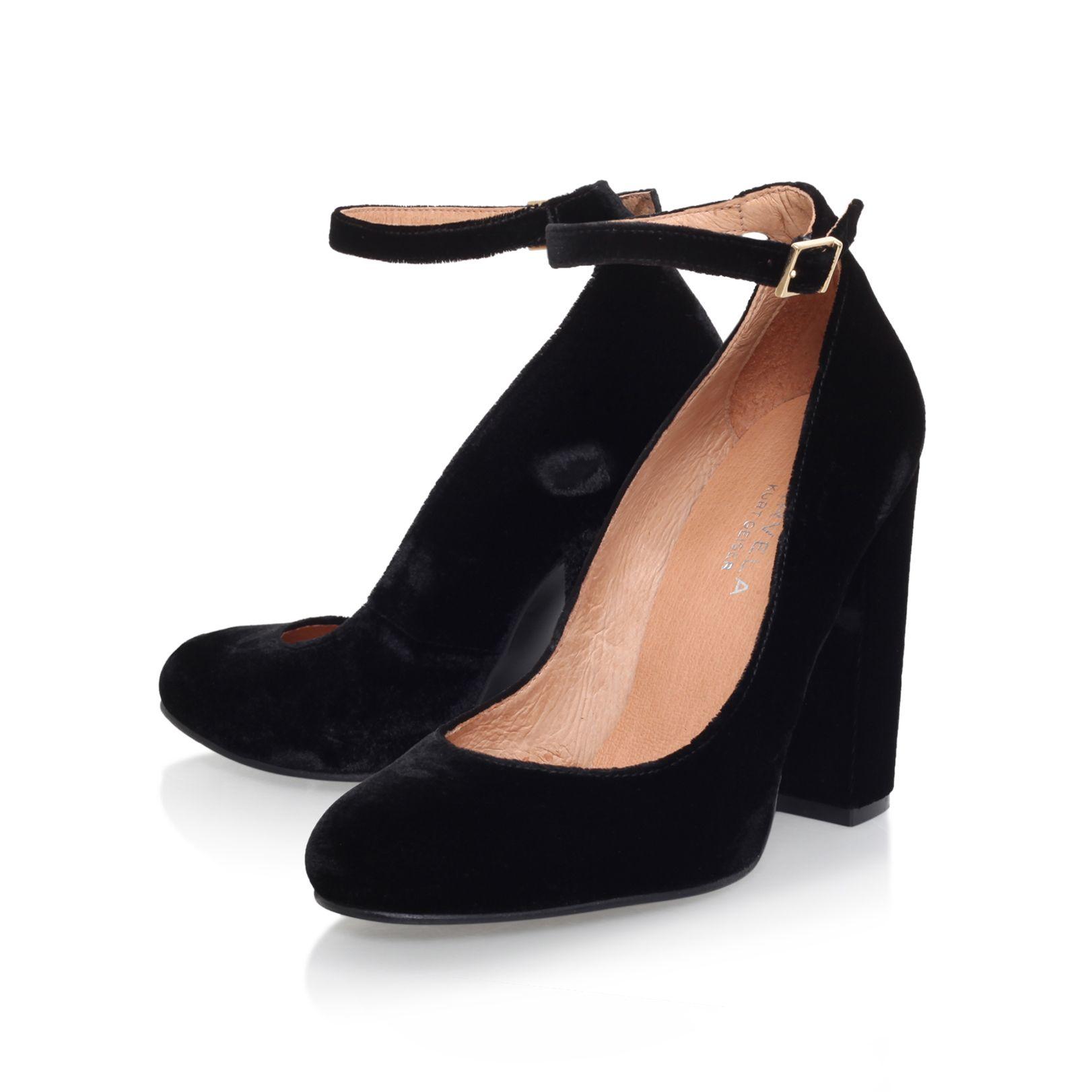 carvela kurt geiger adonis high heel court shoes in black