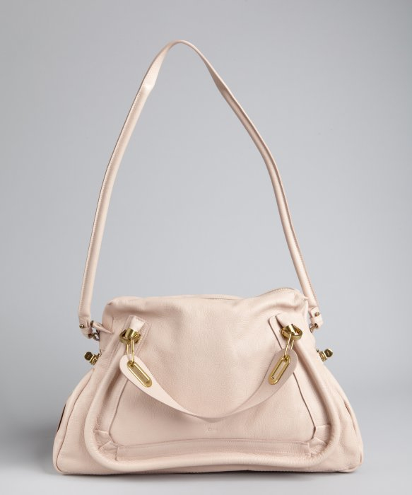 Chlo¨¦ Pre Owned: Nude Pink Leather \u0026#39;Paraty\u0026#39; Large Convertible Bag ...