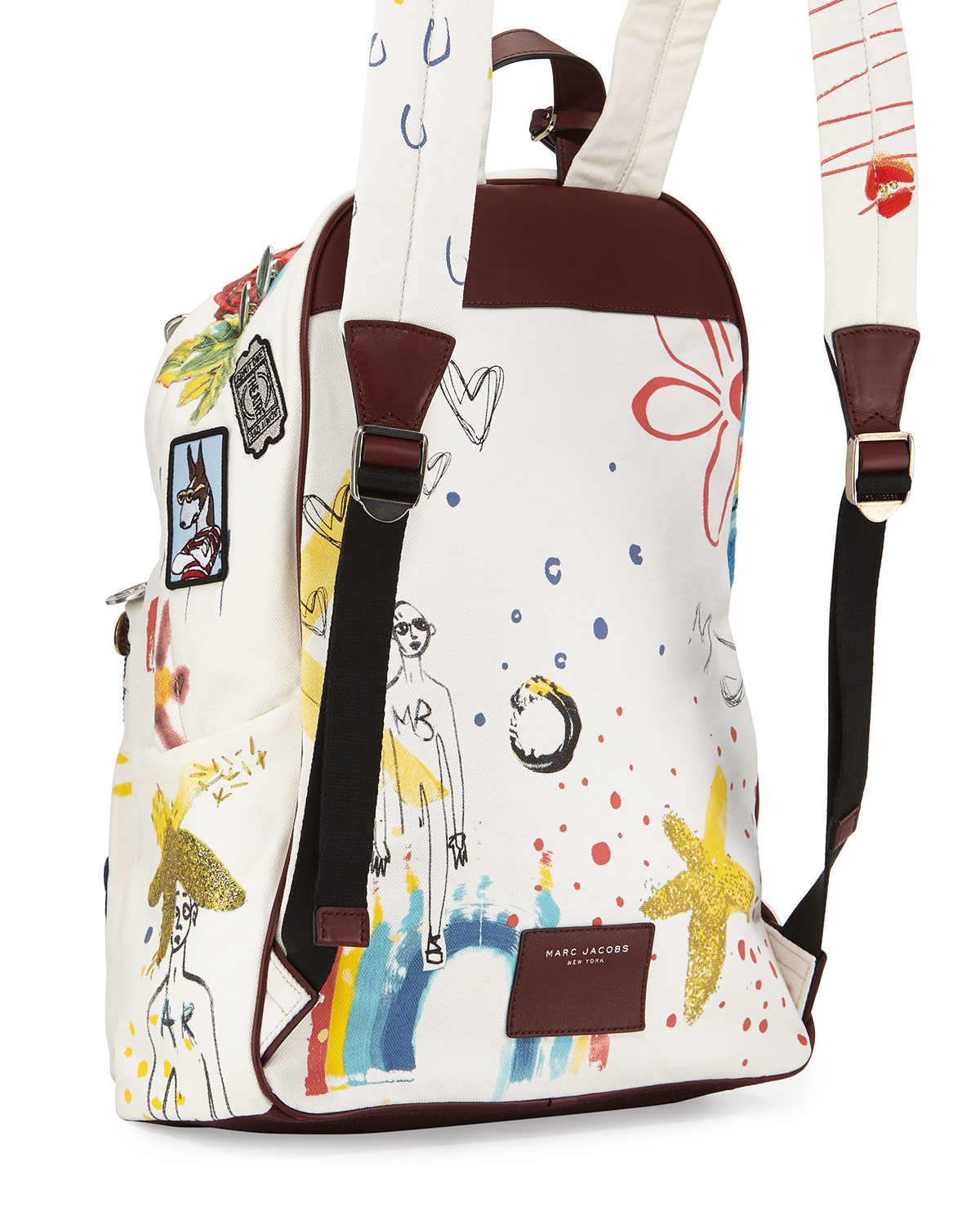Marc jacobs Collage Canvas Backpack in Multicolor (ECRU MULTI) | Lyst