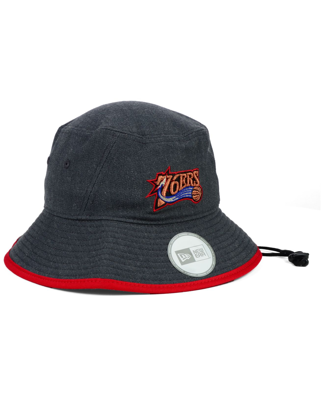 20227bee28323b ... switzerland lyst ktz philadelphia 76ers dark heather tipped bucket hat  in black for men abfb1 db2c2
