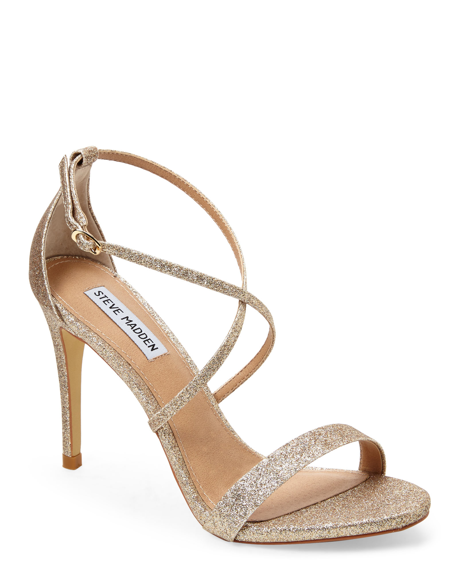 Steve Madden Gold Feliz Strappy Sandals In Metallic Lyst