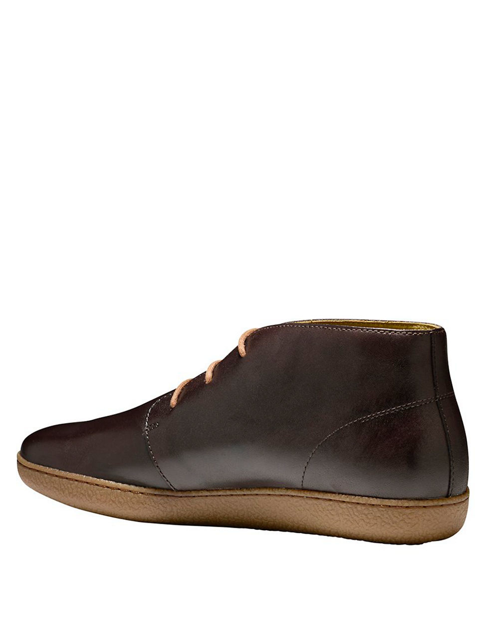 cole haan glenn leather cupsole chukka boots in brown for