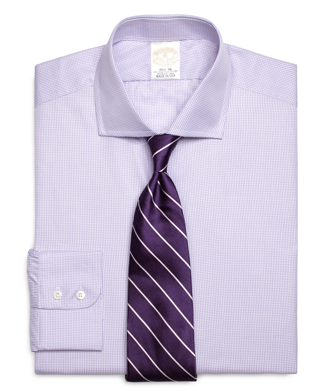 Brooks brothers golden fleece madison fit micro gingham for Brooks brothers dress shirt fit