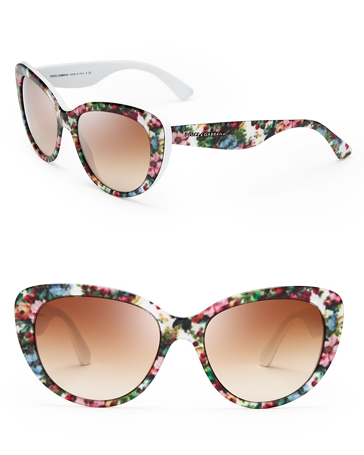 Dolce Gabbana Flower Sunglasses  dolce gabbana fl cat eye sunglasses lyst