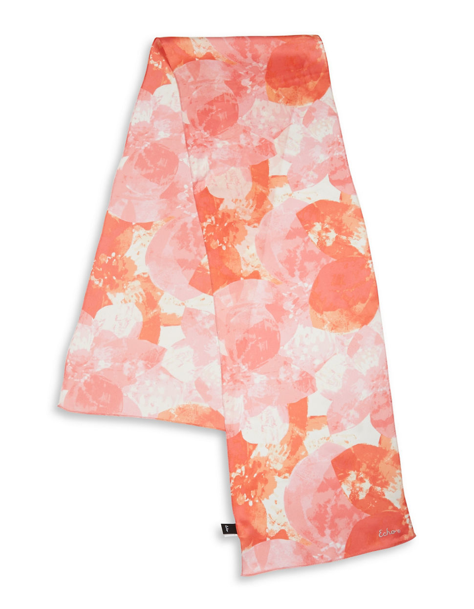 echo abstract floral silk scarf in pink ripe mango lyst