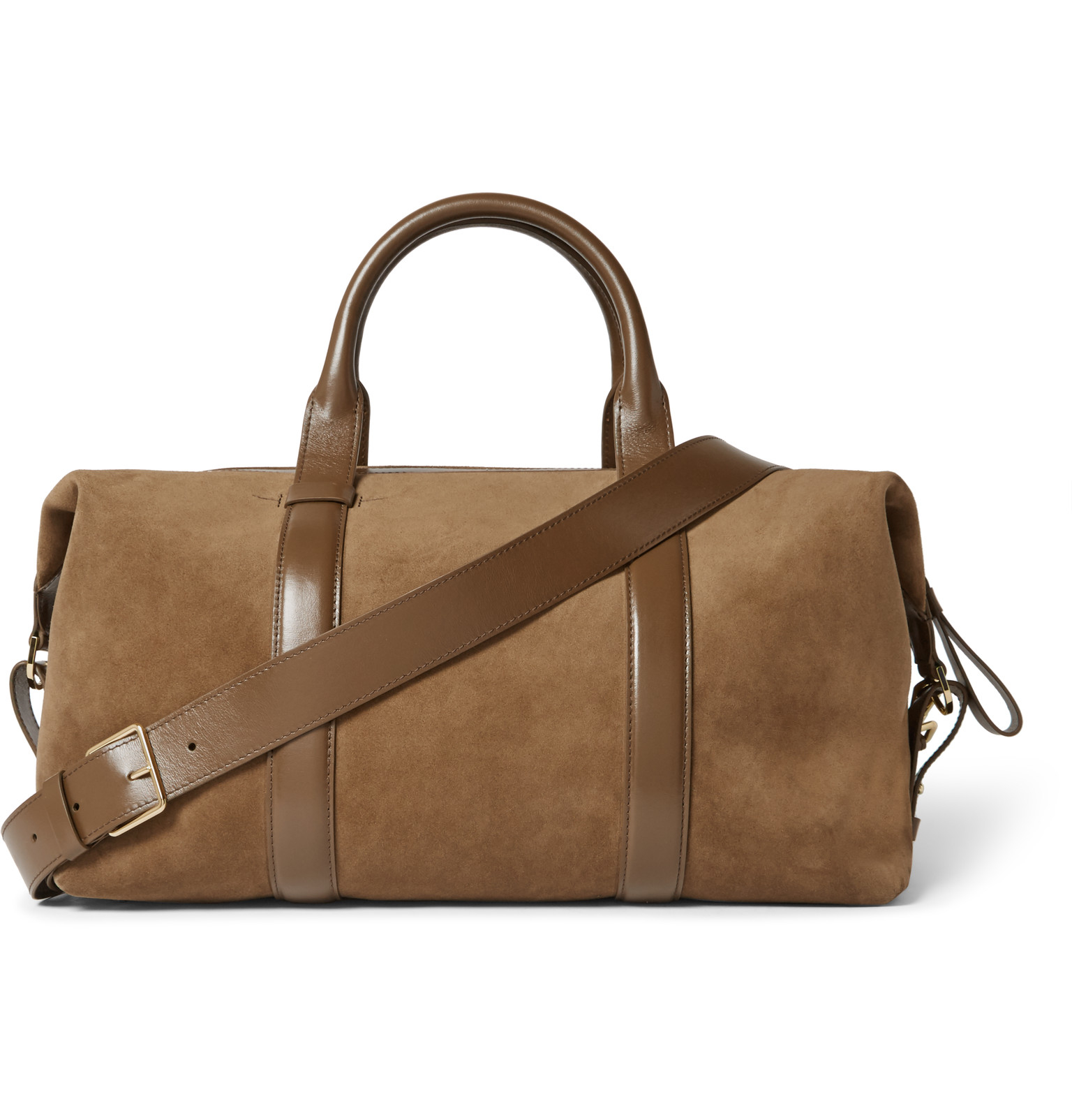 Tom ford Leather-trimmed Suede Holdall in Brown for Men