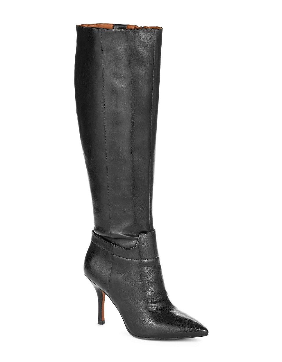 nine west getta wide shaft boots in black lyst