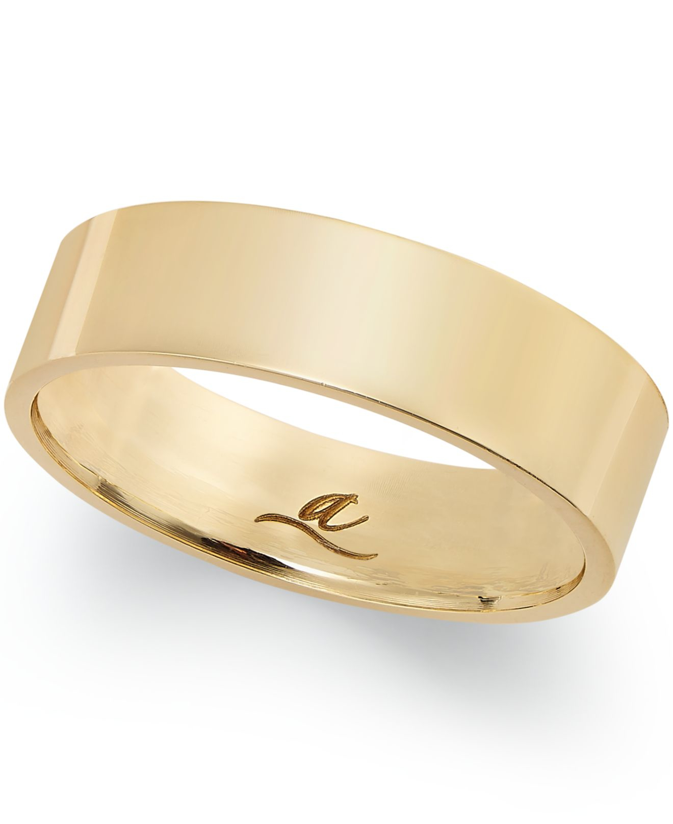 Macys Mens Wedding Rings: Macy's 6mm Wedding Band In 18k Gold In Gold (Yellow Gold