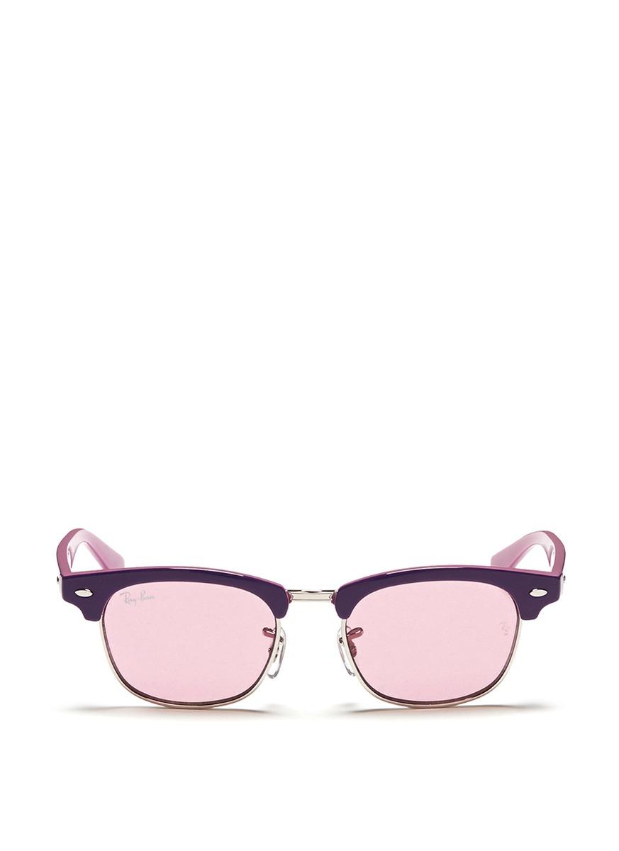 Clubmaster 15800 Ban Las Lyst de gafas sol hombres Browline Ray para D723b Junior mejores en púrpura yq6w6XaKY
