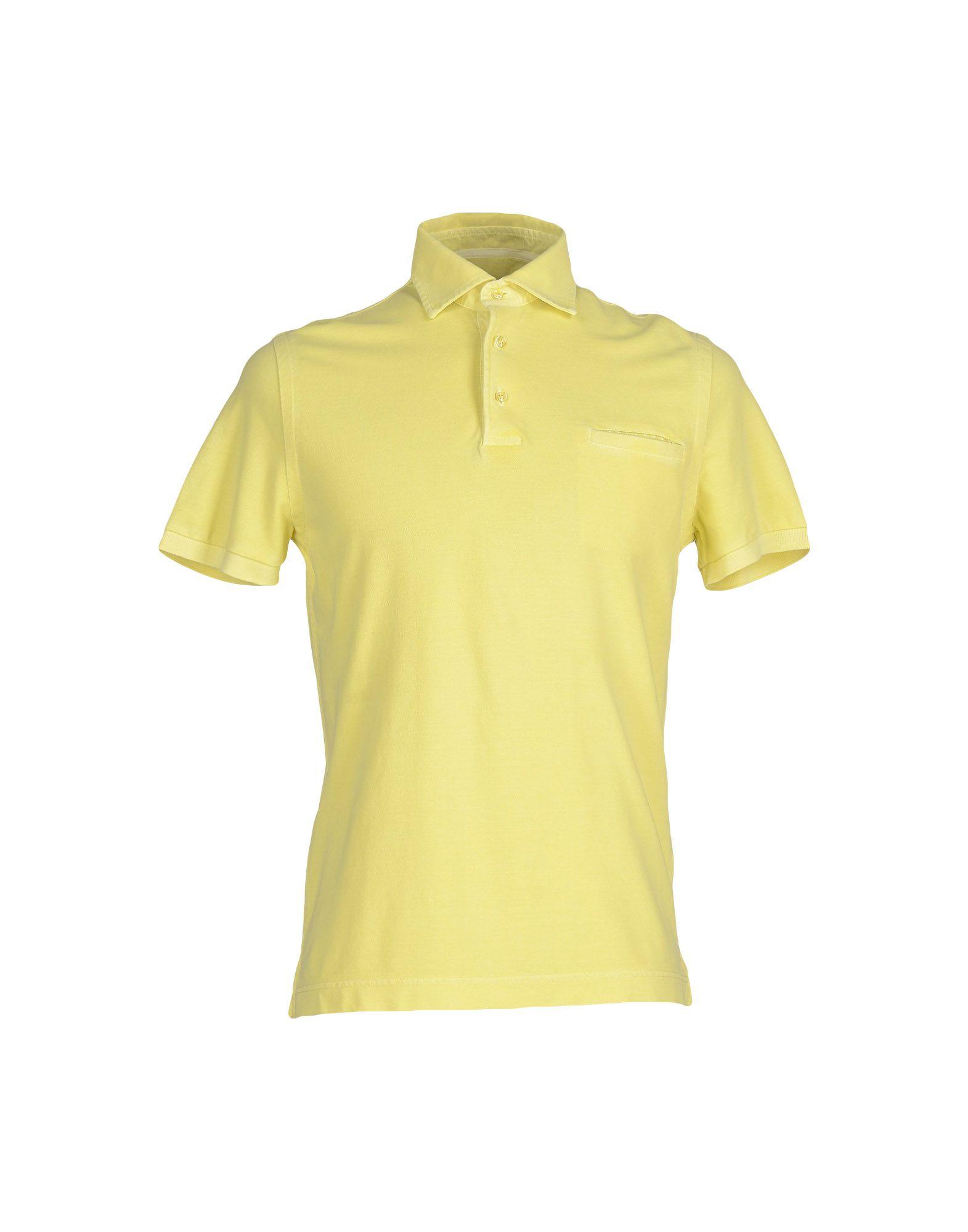 Della Ciana Polo Shirt In Yellow For Men Lyst