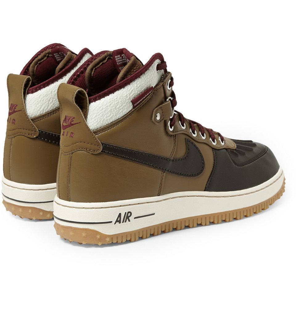Nike Air Force 1 Duckboot Leather High Top Sneakers In