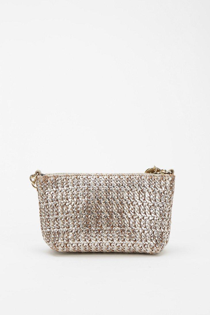 Lyst Deux Lux Metallic Straw Crossbody Bag In Metallic