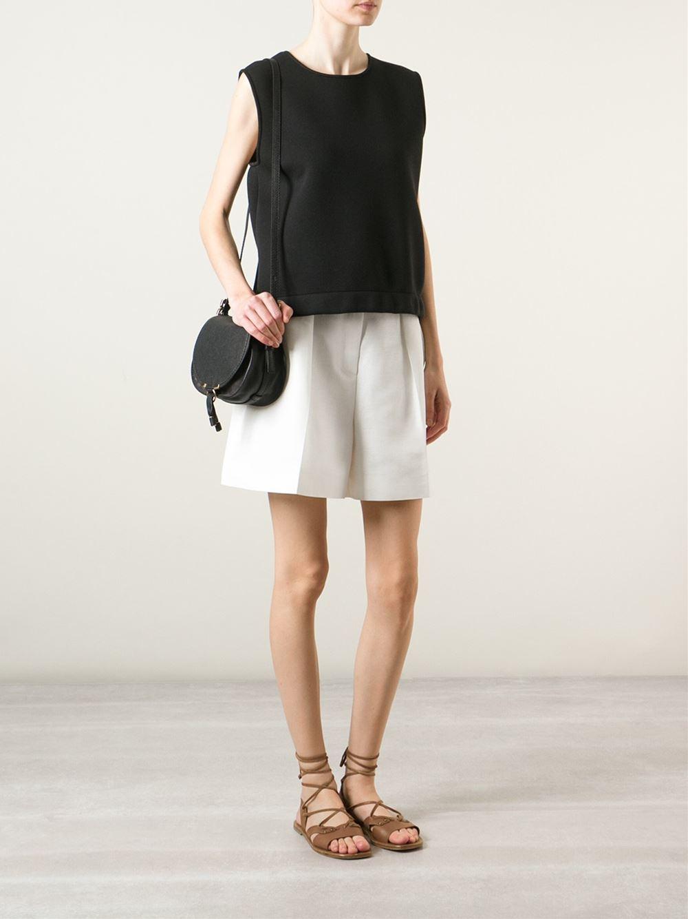 Chlo¨¦ Marcie Leather Cross-Body Bag in Black | Lyst