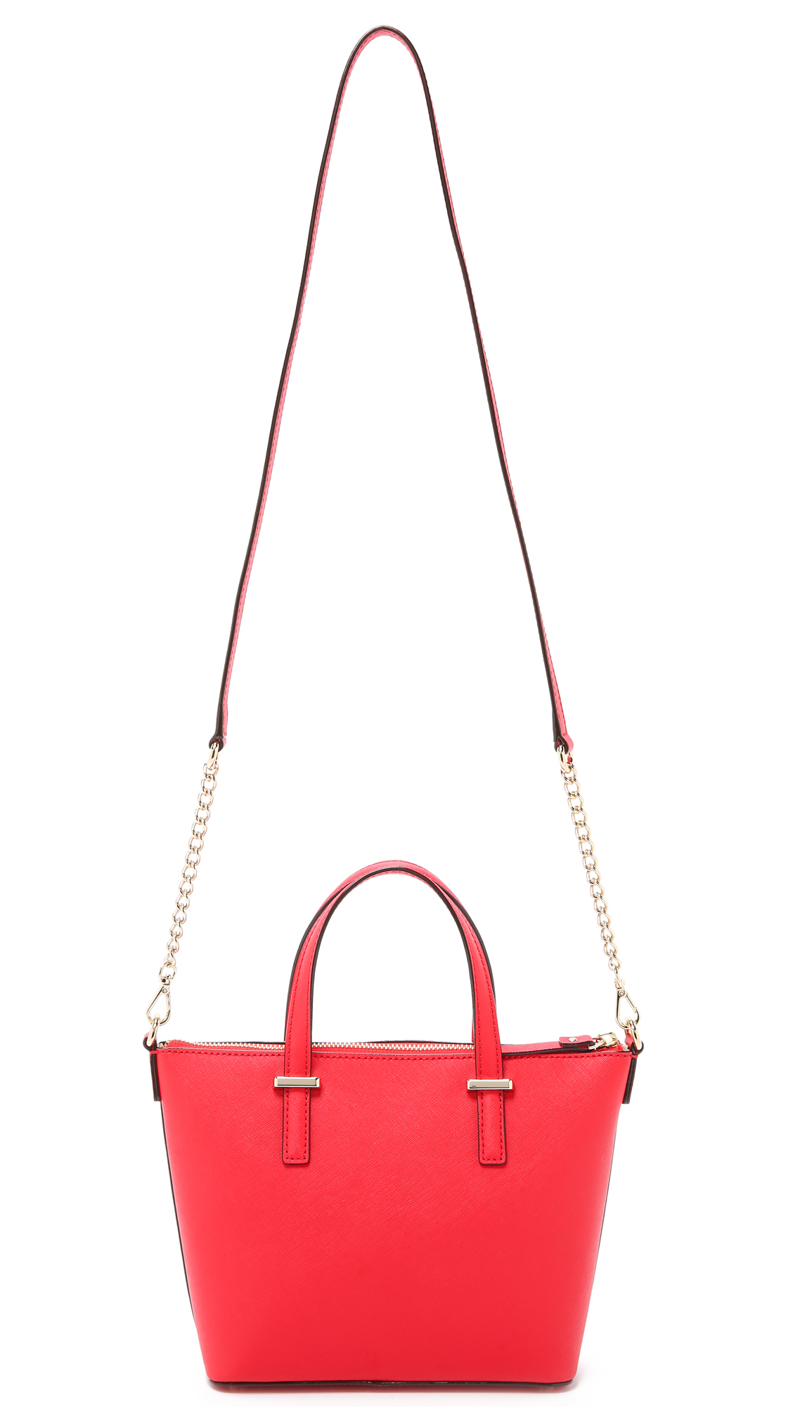 Kate Spade Leather Harmony Cross Body Bag - Cherry Liqueur in Red