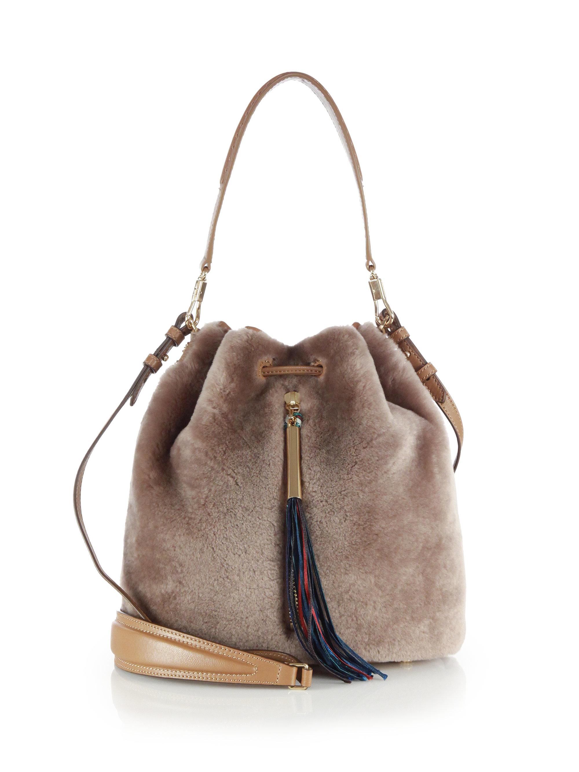 Cynnie Shearling Bucket Bag