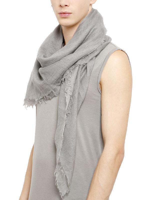 cashmere oversized scarf - Grey Rick Owens d8jJz