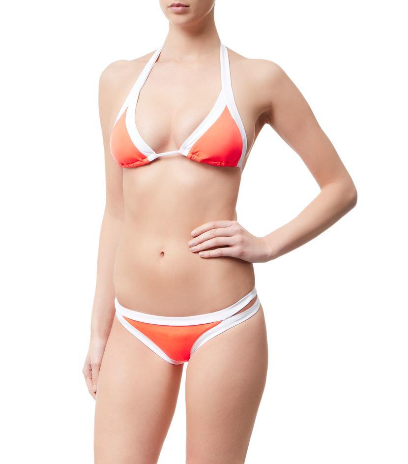 Seafolly Block Party Brazilian Bikini Brief In Orange Lyst