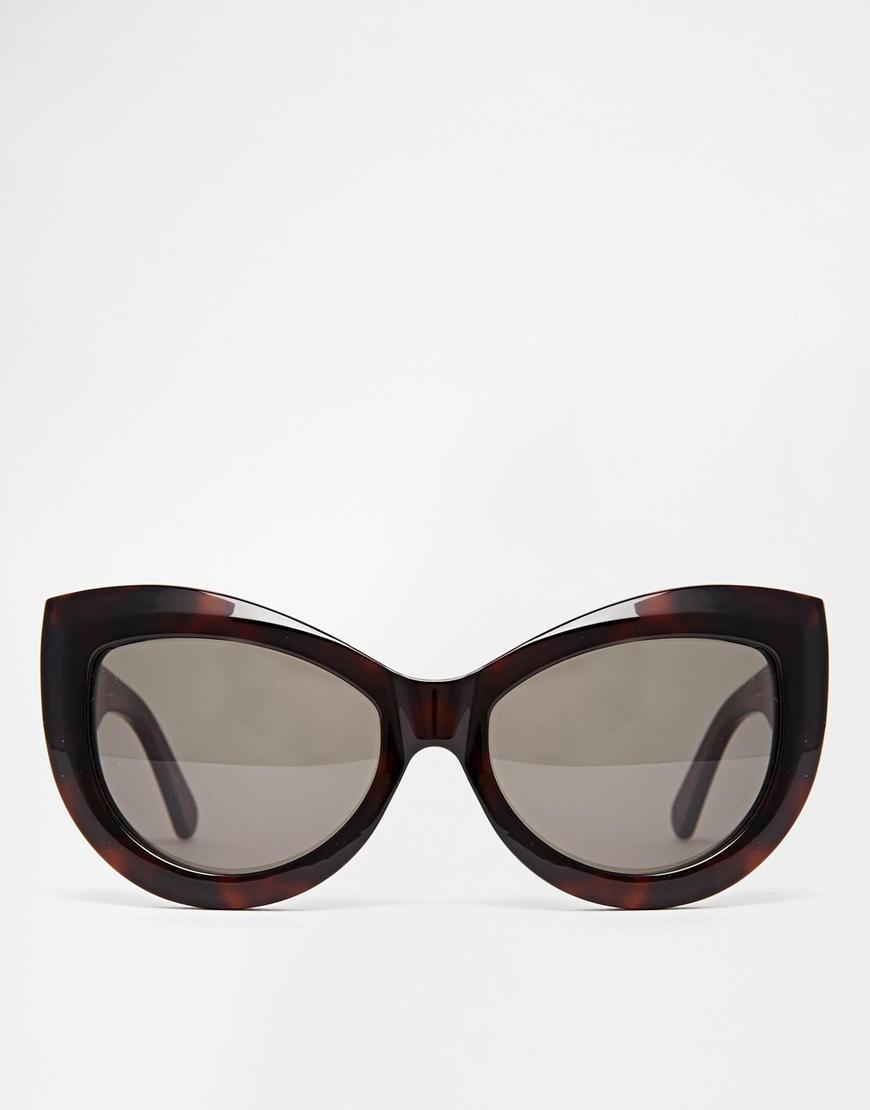 8f051cef1b46f Wildfox Kitten Cat-eye Sunglasses in Brown - Lyst