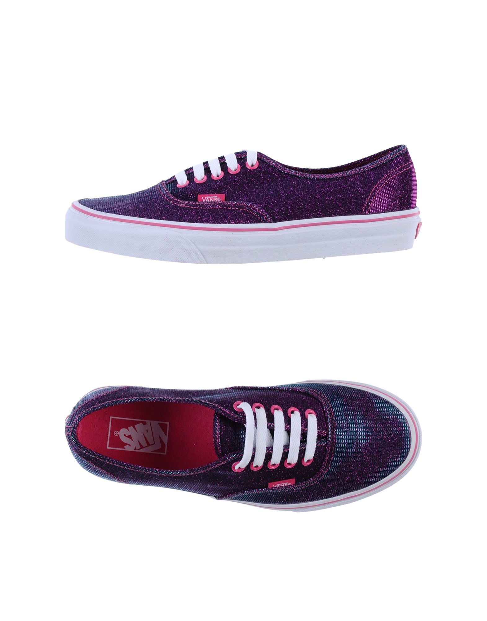 vans low tops trainers in purple fuchsia lyst. Black Bedroom Furniture Sets. Home Design Ideas
