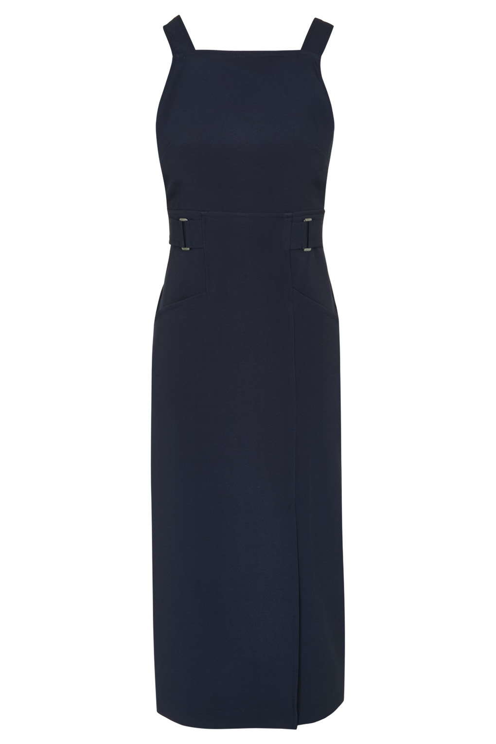 Topshop Navy Pinafore Dress By Twin Sister In Blue Lyst
