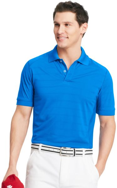 izod izod golf shirt slim fit shortsleeve textured striped