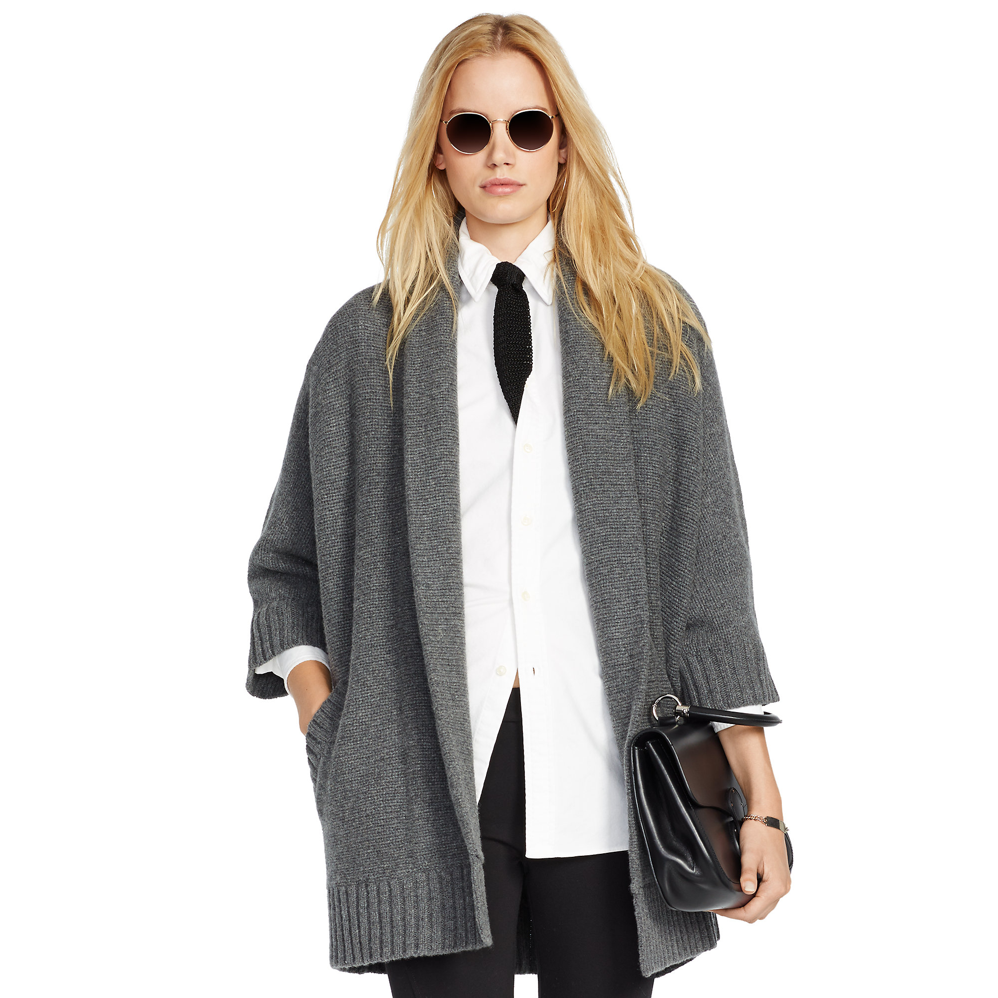 aca6825293d43 Lyst - Polo Ralph Lauren Merino Wool Cashmere Cardigan in Gray