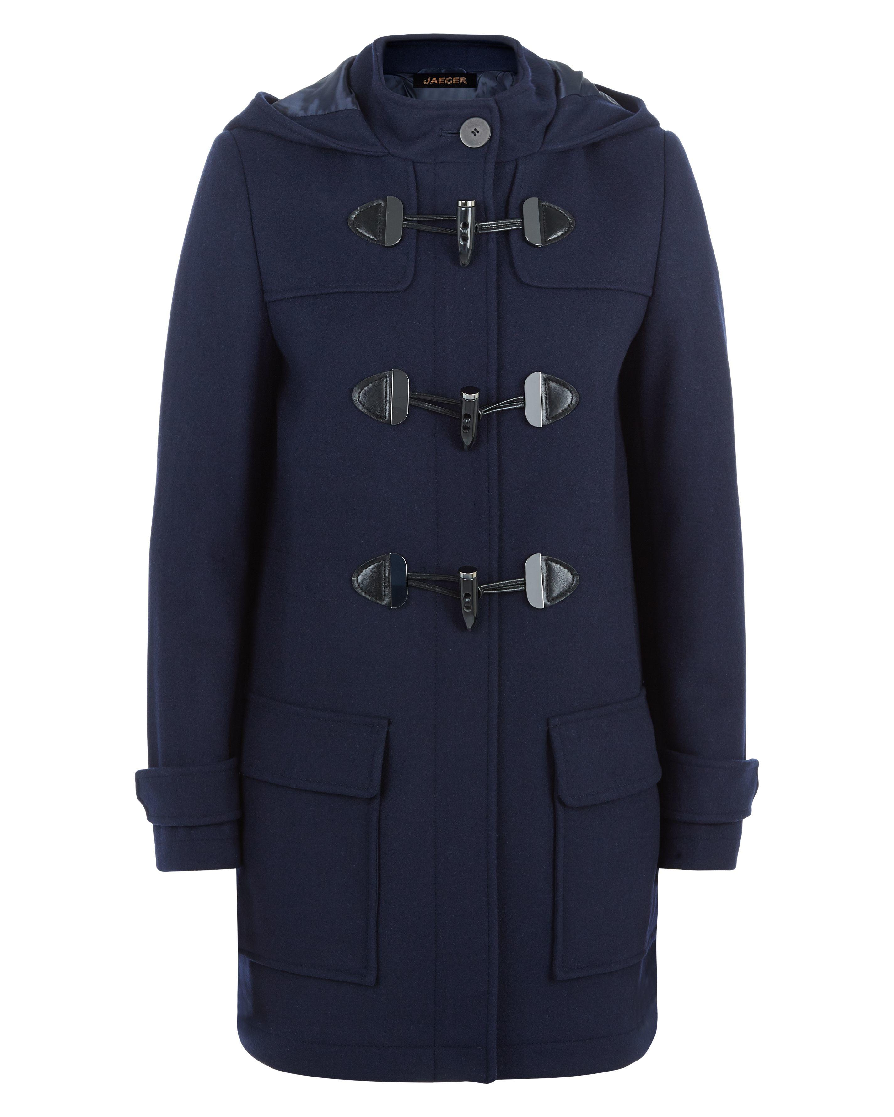 Jaeger Melton Wool Duffle Coat in Blue