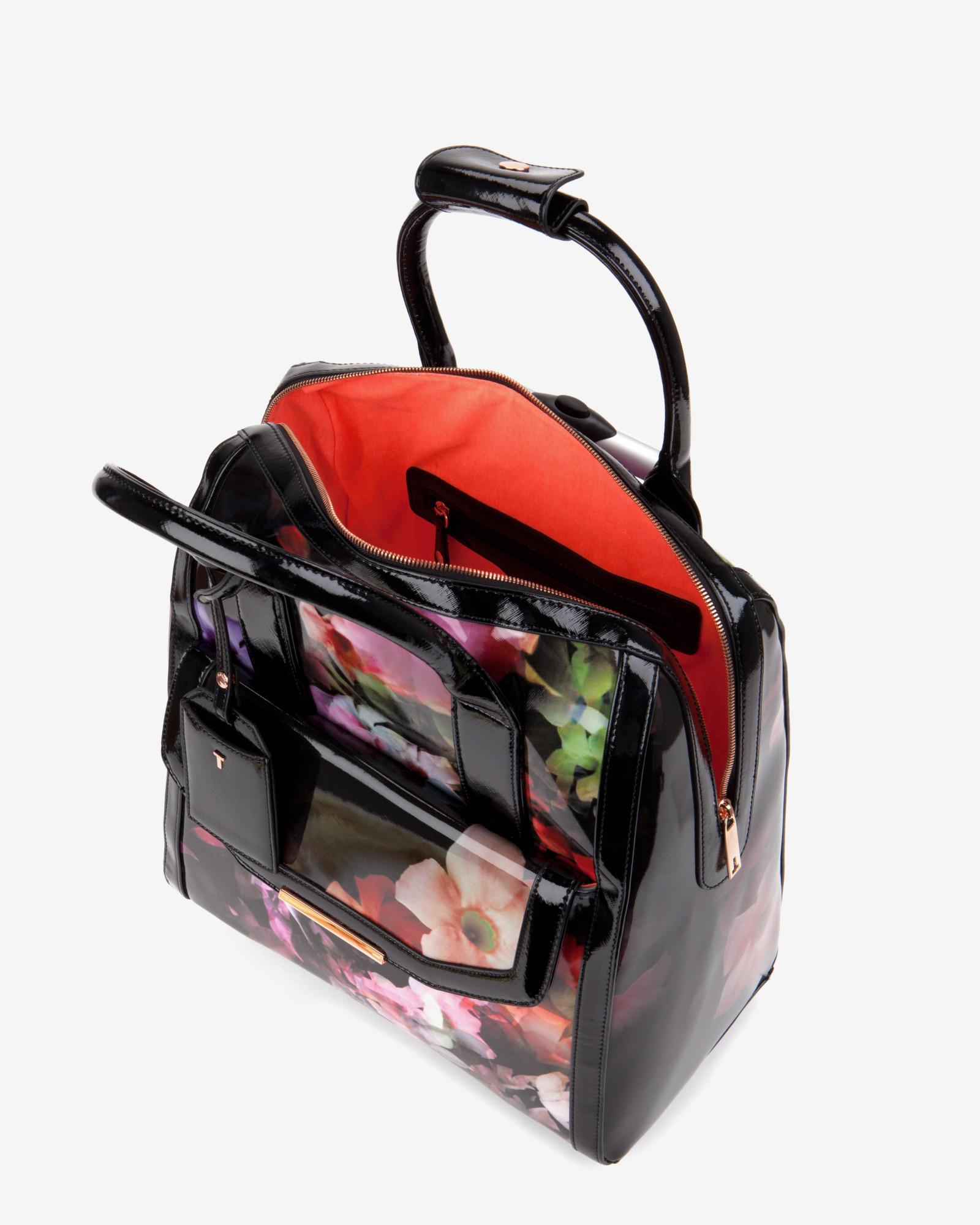 Ted Baker Cascading Floral Travel Bag In Black Lyst
