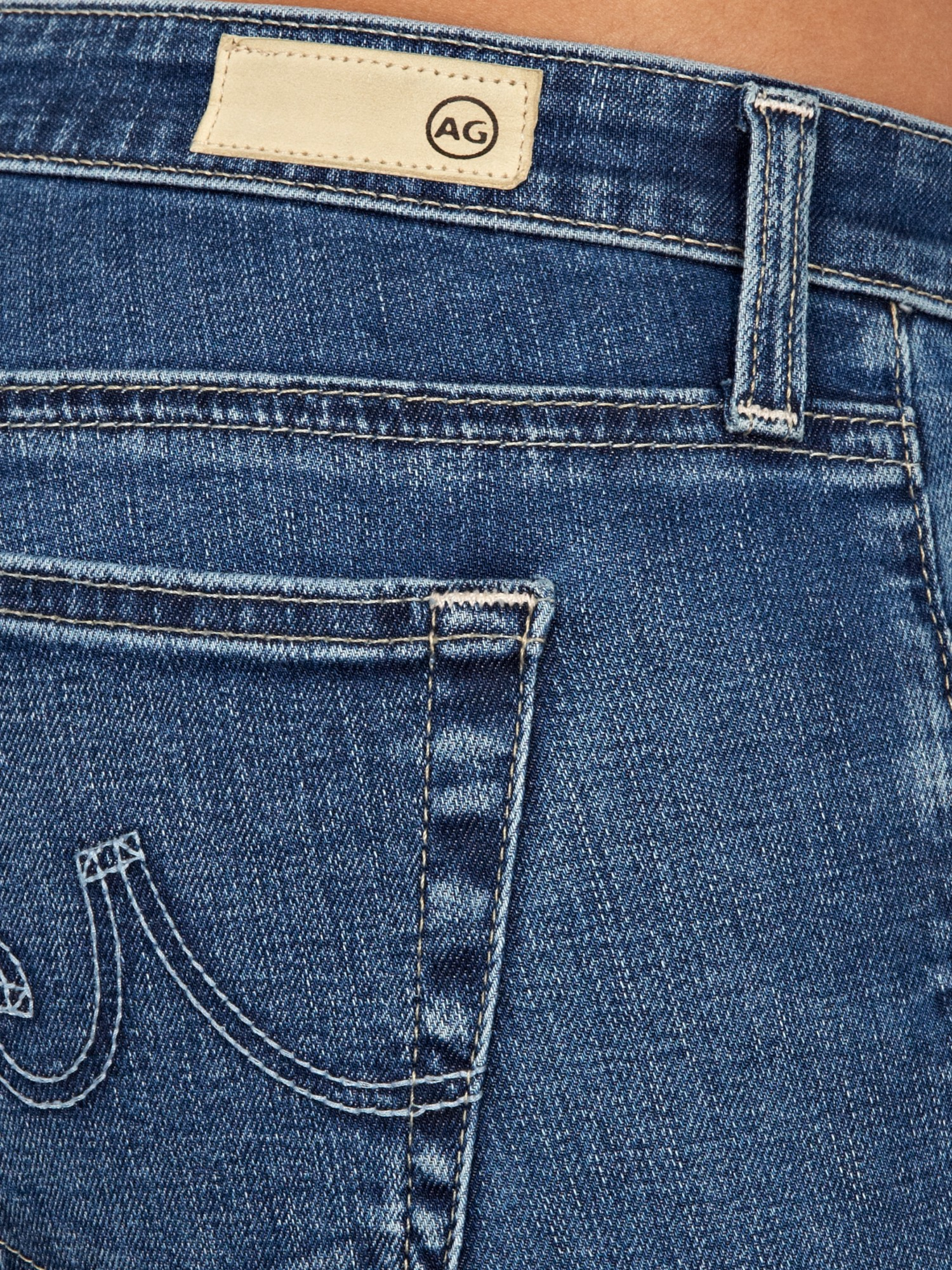 AG Jeans Denim The Stilt Roll Up Cigarette Jean in Blue