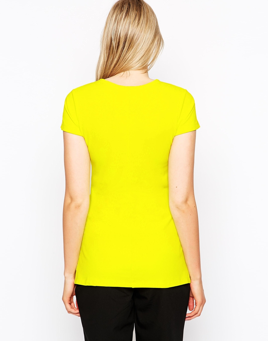 Isabella Oliver Short Sleeve Panel Top in Yellow - Lyst  Oliver Short