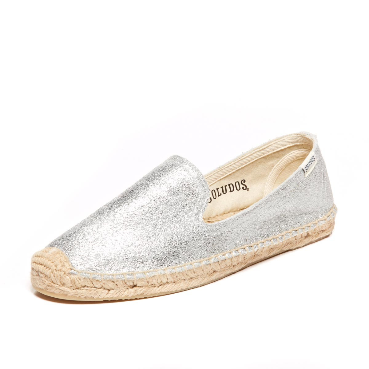 ed836b6e6b1 Lyst - Soludos Jupiter Leather Smoking Slipper in Metallic