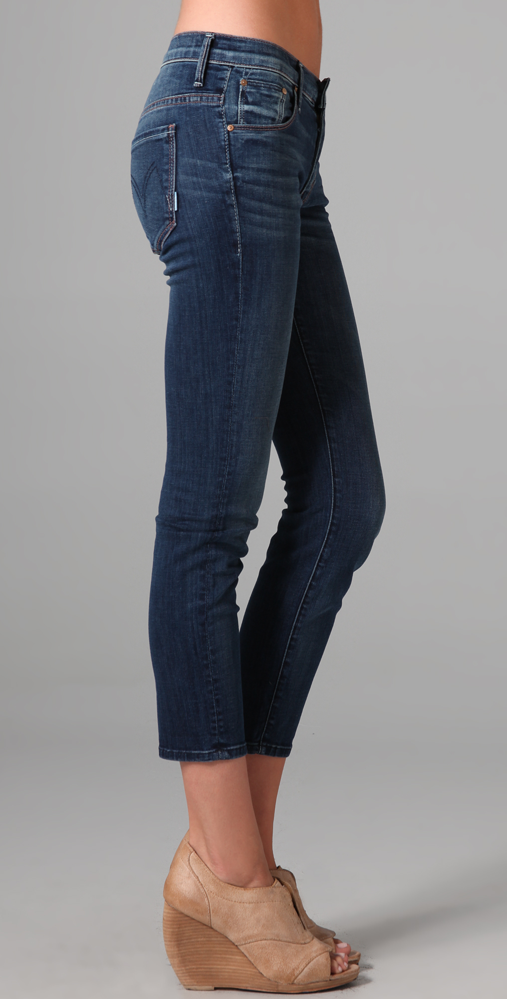 Mother The Skinny Not Skinny Jeans in Blue | Lyst
