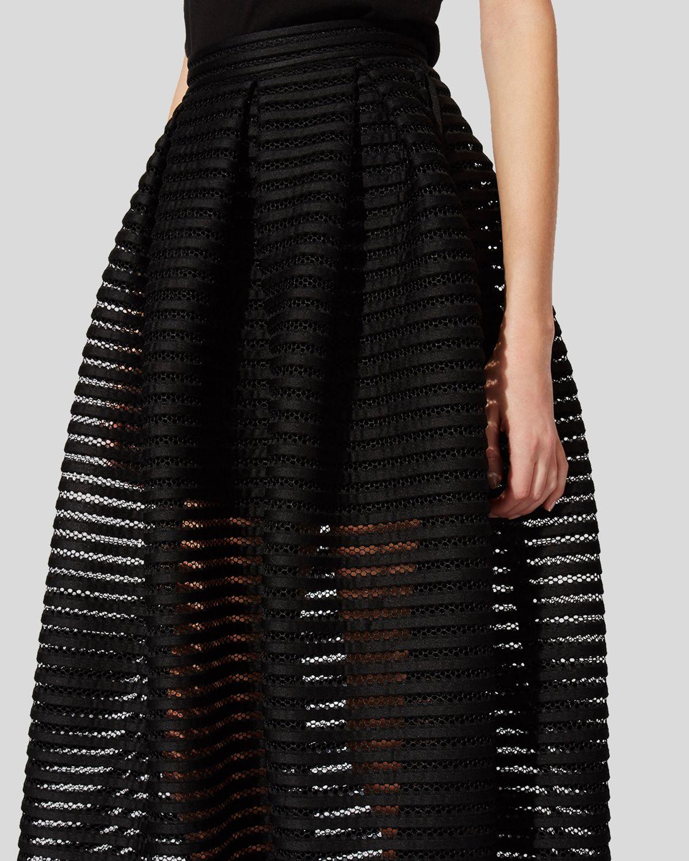 Lyst Maje Skirt Jongle Maxi In Black