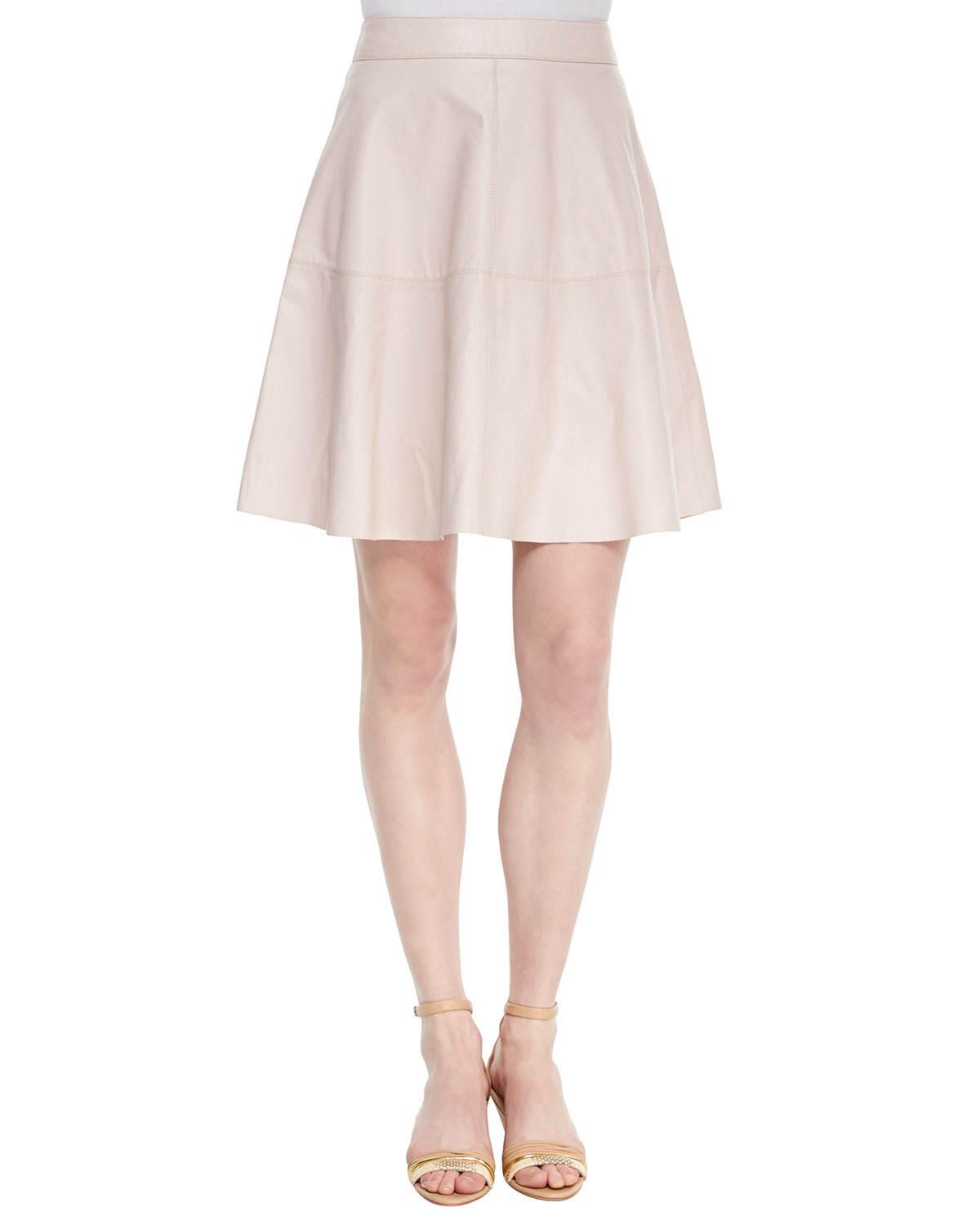 3209cede84 Lyst - Joie Decollete A-line Leather Skirt in Natural