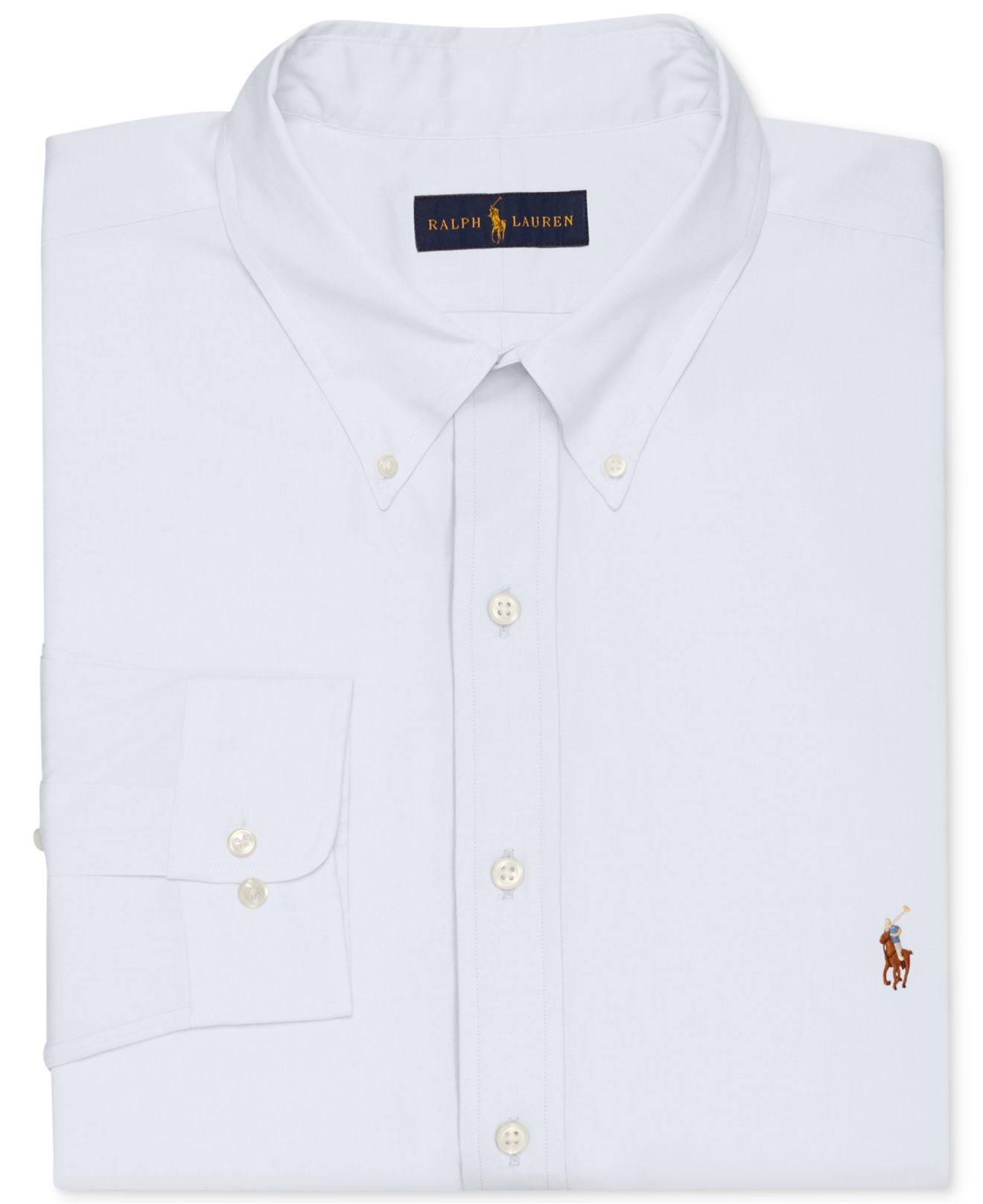 Polo ralph lauren men 39 s big and tall white dress shirt in for Dress shirts for tall men