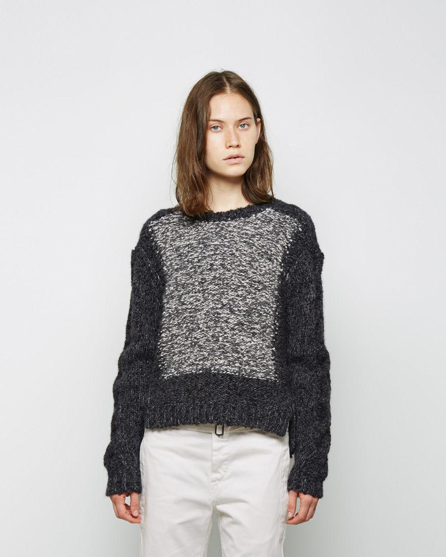 isabel marant sao bi color alpaca pullover in gray lyst. Black Bedroom Furniture Sets. Home Design Ideas