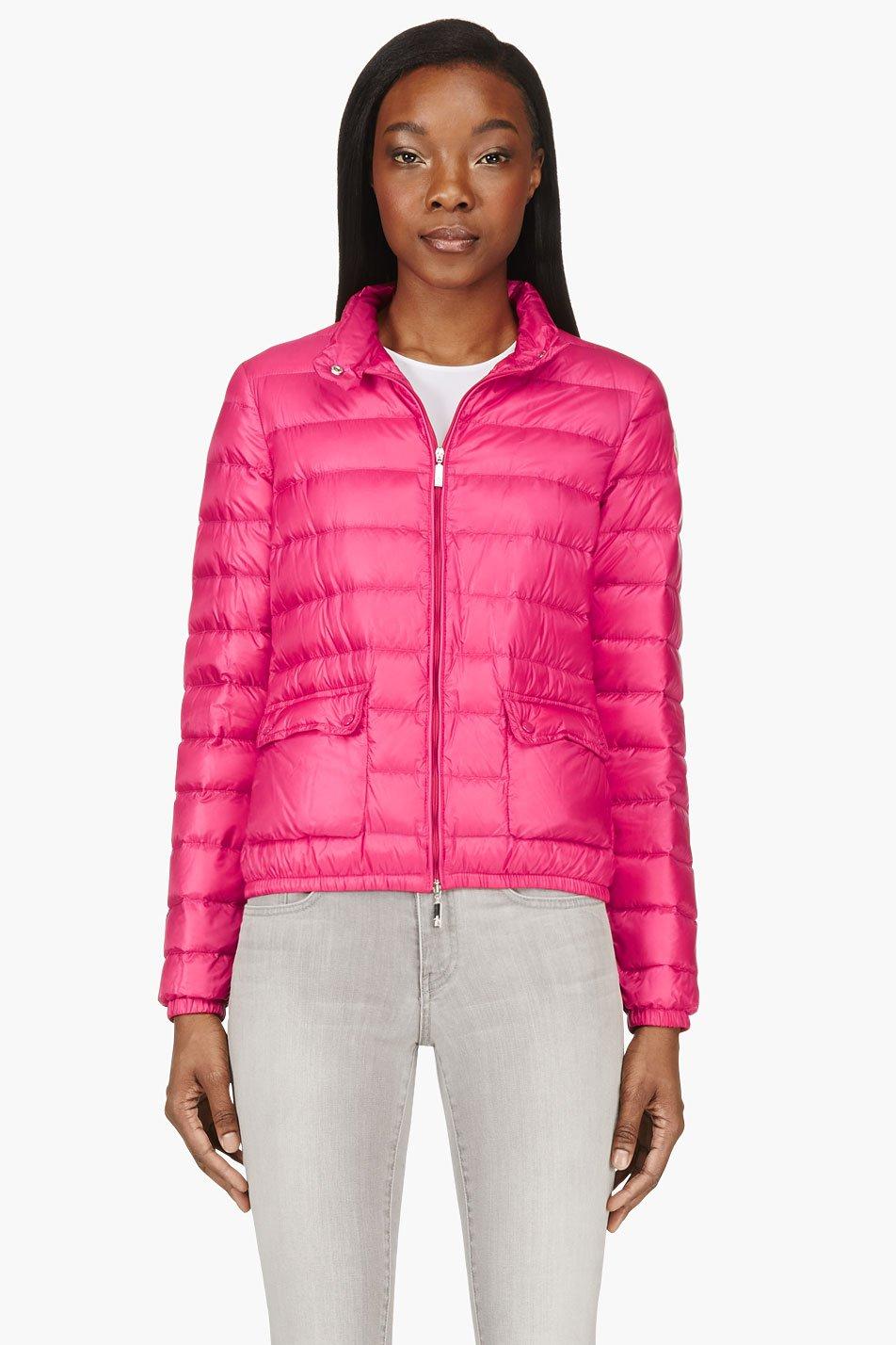 moncler womens coats pink