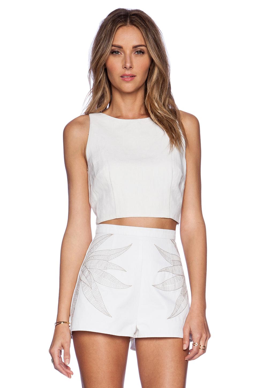 Lyst Mara Hoffman Linen Crop Top In White
