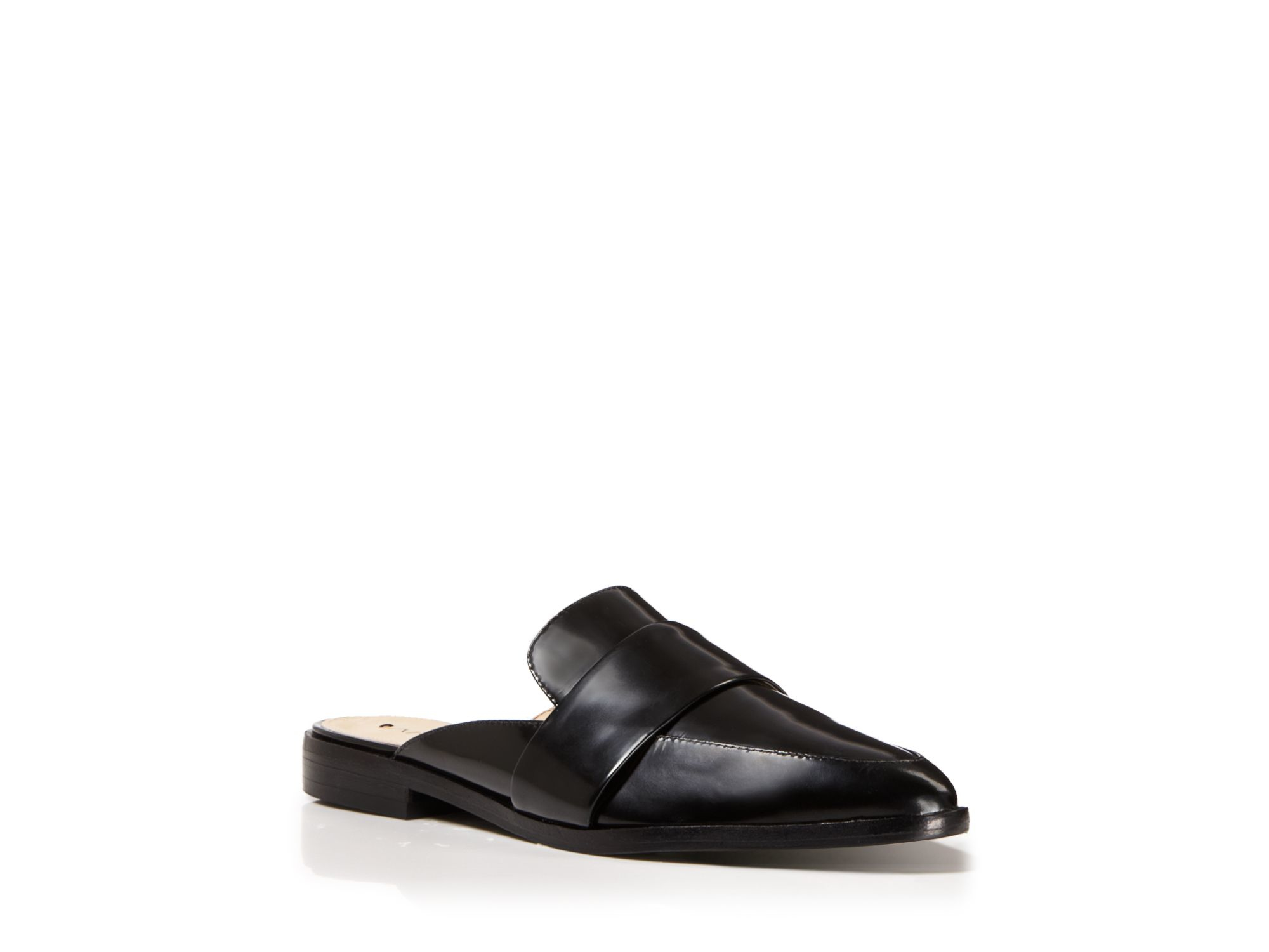03db7b5f8d42 Lyst - Via Spiga Oxford Flats - Lauryn Slide in Black