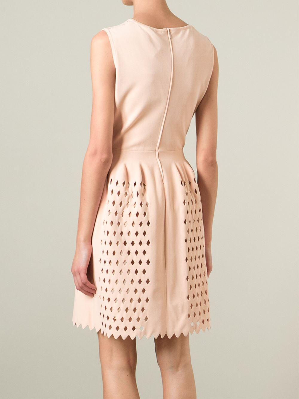 Lyst Fendi Cut Out Dress In Pink