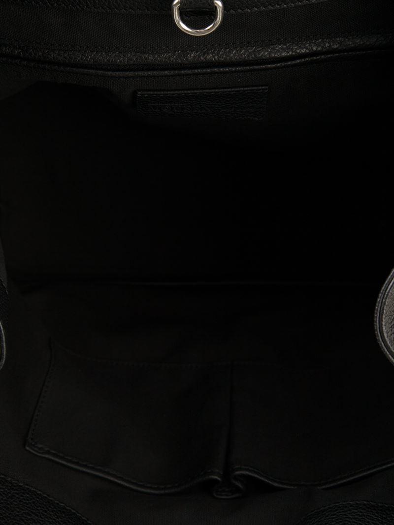 Alexander McQueen Medium 'Skull Padlock' Tote in Black