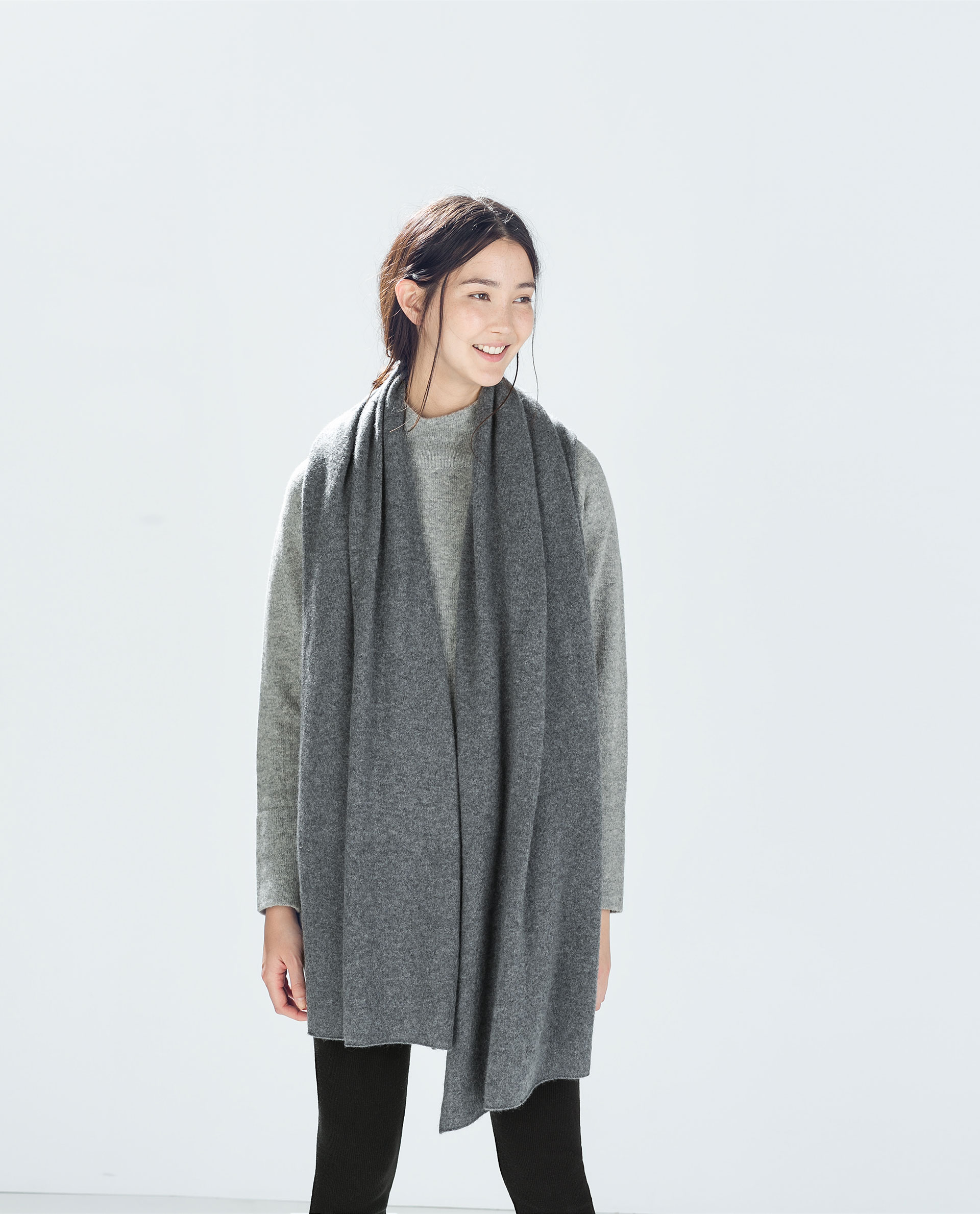 zara special edition scarf in gray lyst