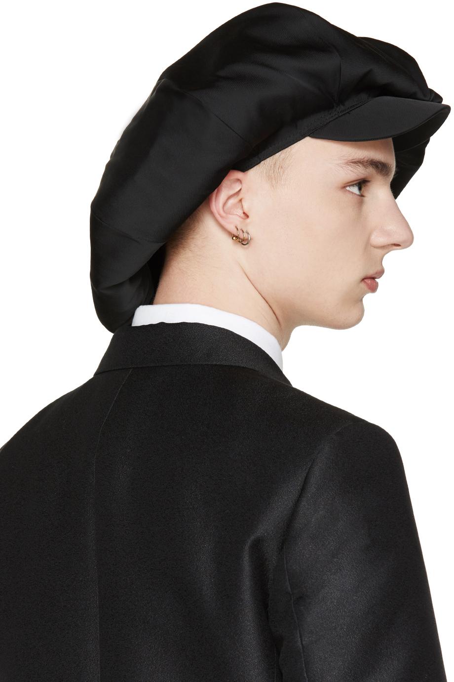 a2ff8c81 Comme des Garçons Black Oversized Newsboy Cap in Black for Men - Lyst