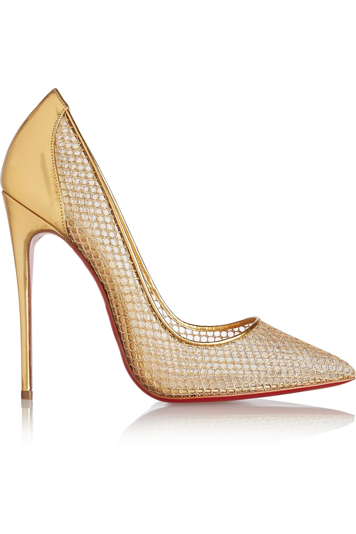 replica shoe - christian louboutin follies fishnet red sole pump, christian ...