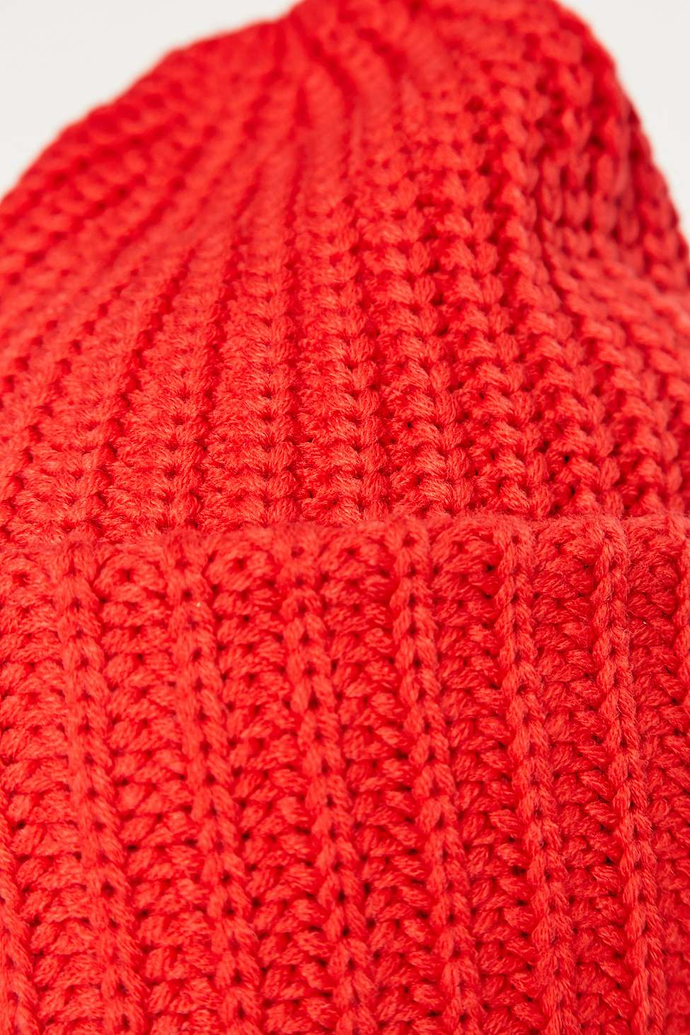 9f7abc9d75b Urban Outfitters Ribbed Stand-up Beanie in Red - Lyst